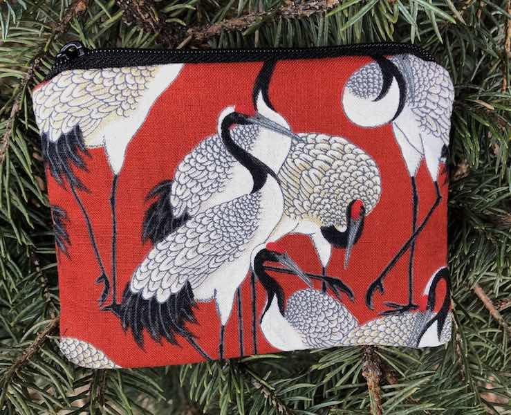 Cranes on Red Coin Purse, The Raven