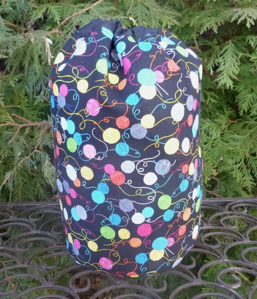 Crochet SueBee Round Drawstring Bag