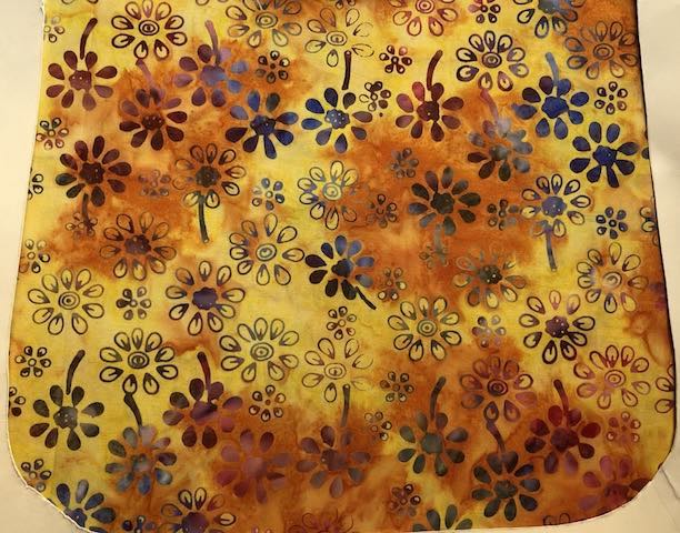 Daisy Batik in orange and yellow, Pick your Size Morphin Messenger Bag Flap