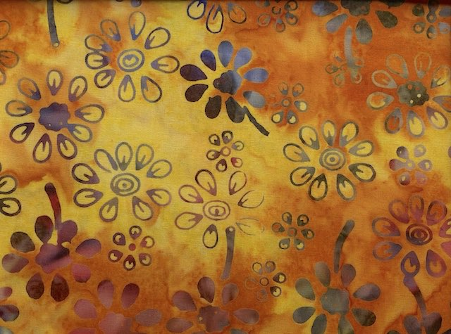Daisy Batik in Orange and Yellow Adjustable Face Mask - MADE TO ORDER