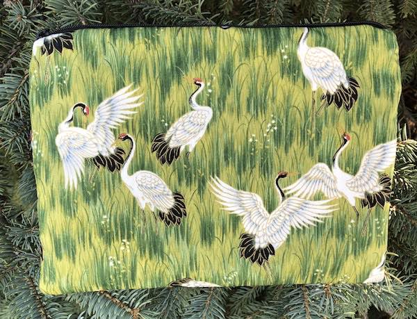 Dancing Cranes Mahjongg card and coin purse, The Slide
