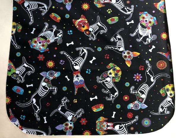 Day of the Dead Dogs Pick your Size Morphin Messenger Bag Flap