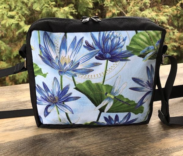 Dragonflies and Water Lilies Hipster Shoulder Bag, The Otter