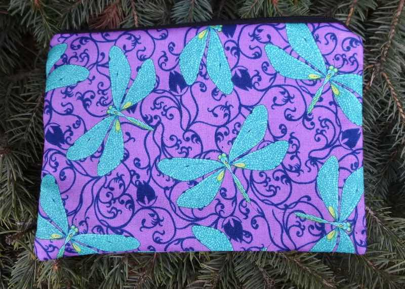 Dragonflies in the Garden zippered bag, The Scooter
