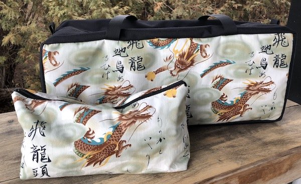 Dragons Mahjongg Storage Set The Zippered Tote-ster and Large Zini