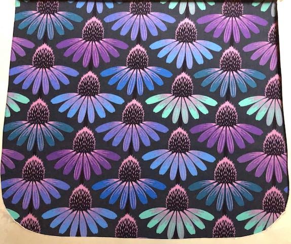 Echinacea in Amethyst Pick your Size Morphin Messenger Bag Flap
