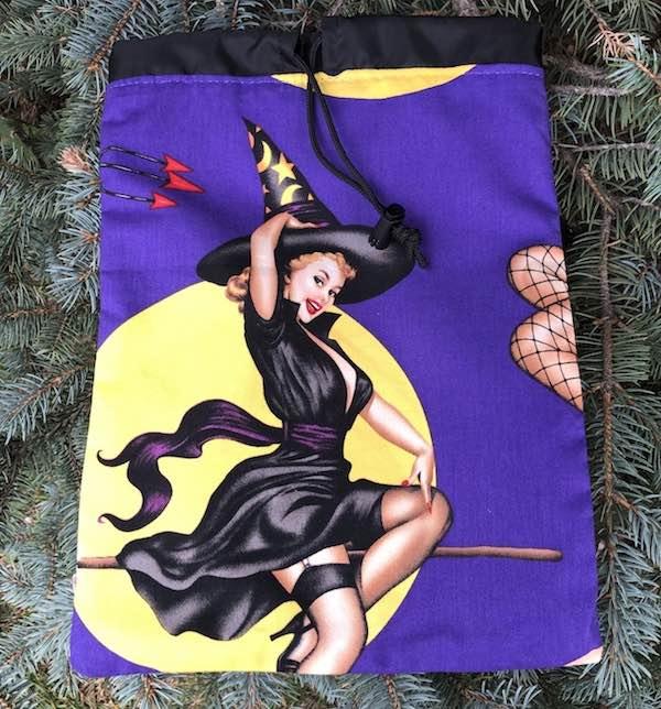 Esmerelda  Flatie Jr. a flat drawstring bag