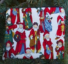 European Santas zippered bag, The Scooter
