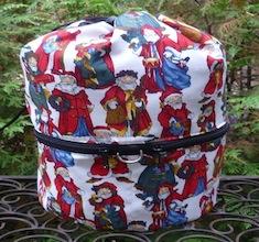 European Santas knitting project bag, large Kipster