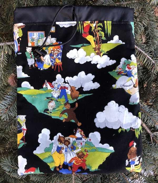 Fairy Tales Flatie Jr. a flat drawstring bag