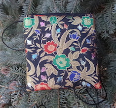 Floral Brocade Wren, special occasion purse