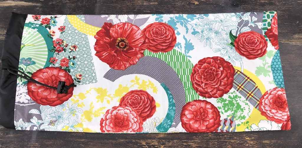 Floral Burst drawstring bag for canasta racks and card spinner, the Racker Jr