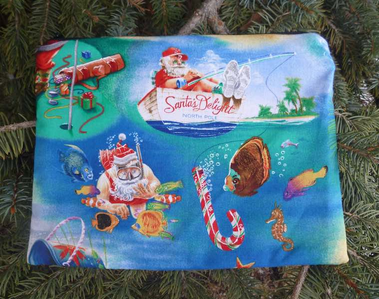 Florida Santa Mahjongg card and coin purse, The Slide