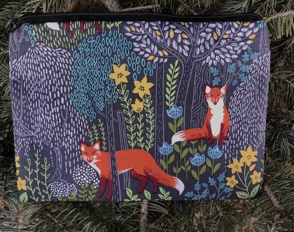 Foxy Forest zippered bag, The Scooter
