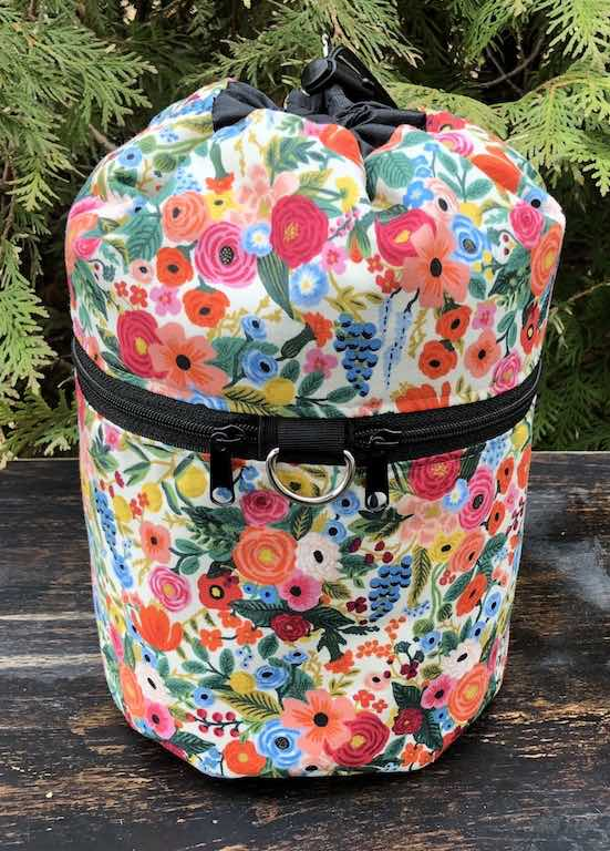 Garden Party Kipster Knitting Project Bag. Rifle Paper fabric.