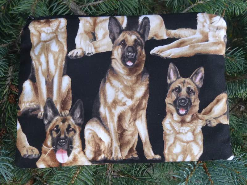 German Shepherds zippered bag, The Scooter