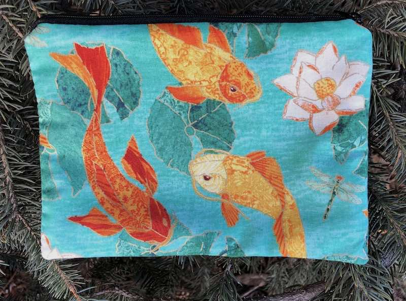 Golden Koi zippered bag, The Scooter