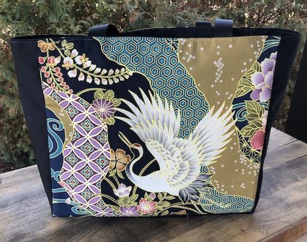 Graceful Cranes Fauna Deep Tote