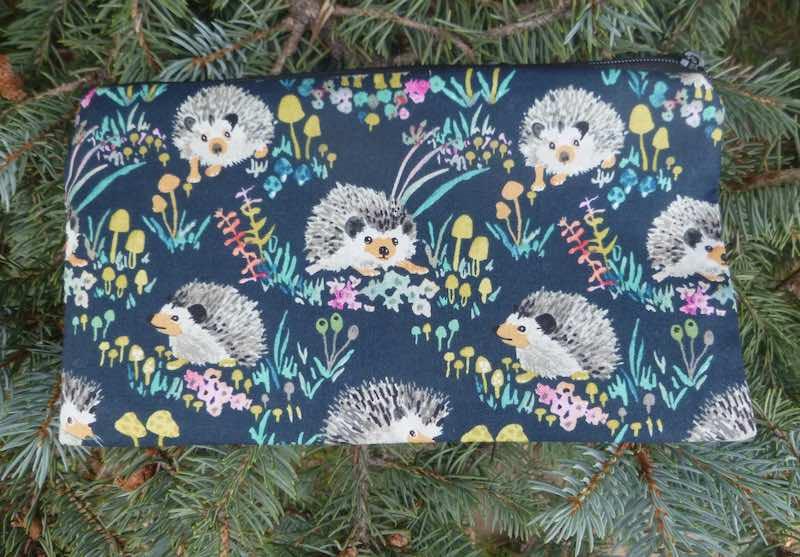 Happy Hedgehogs Deep Scribe pen and pencil case