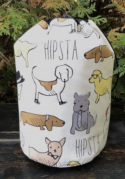 Hipsta Dawgs SueBee Round Drawstring Bag