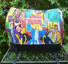 Impressionist Paintings Panther Deluxe Messenger Bag