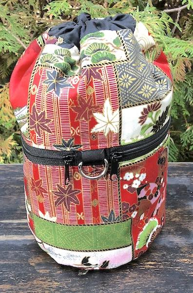 Japan in Red Kipster Knitting Project Bag