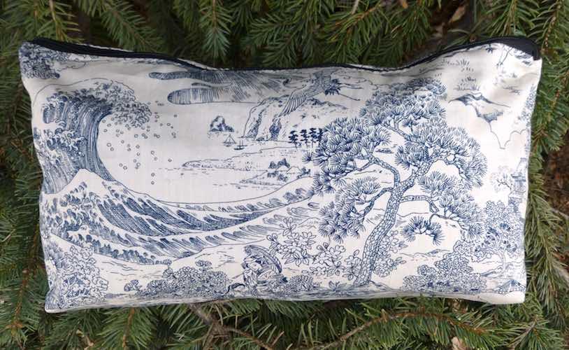 Japanese Scenes Large Zini Flat Bottom Bag