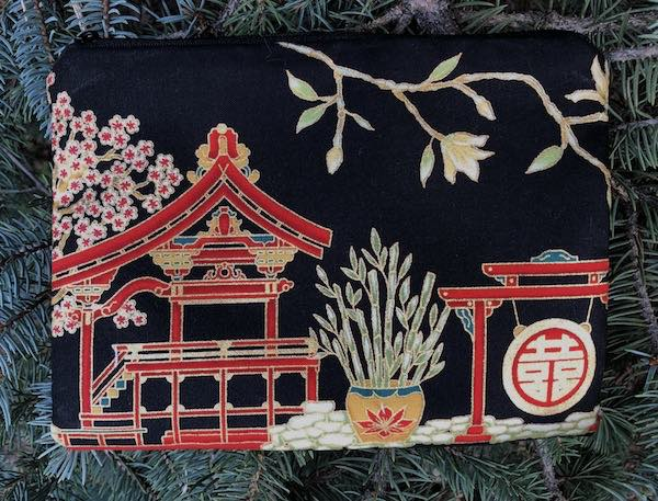 Japanese Village zippered bag, The Scooter