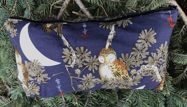 Japanese Owls Large Zini Flat Bottom Bag