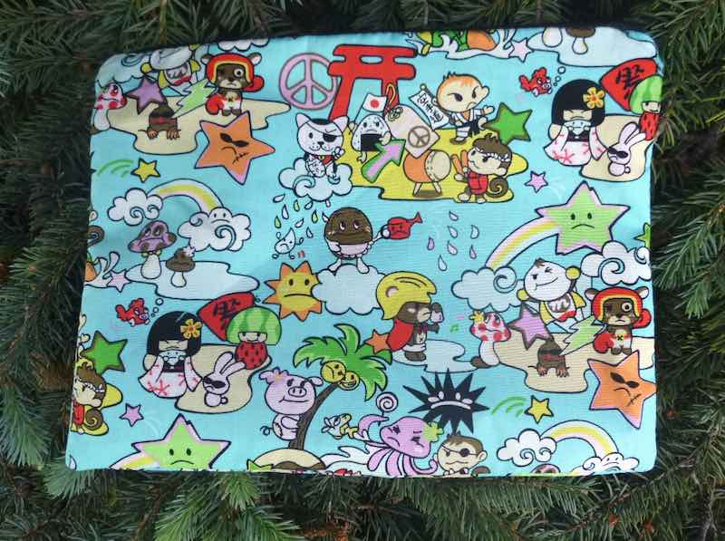 Kawaii in Blue Supa Scribe extra large pencil case or makeup bag