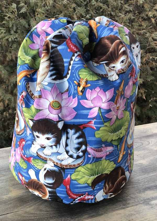 Kokeshi Kitty Alpaca Large Knitting Bag