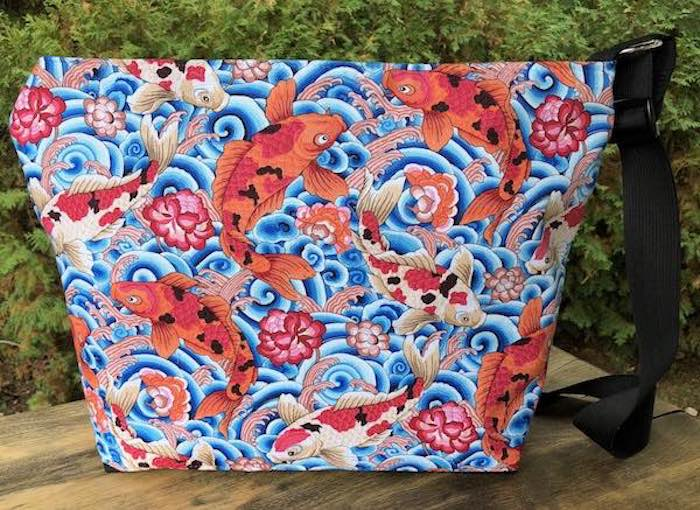 Leaping Carp Large Tootsie Zippered Purse
