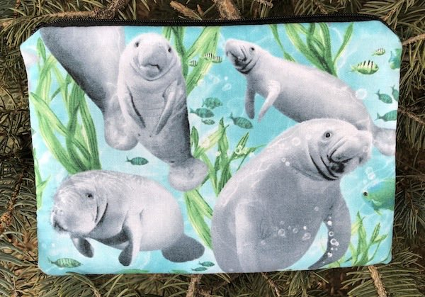 Manatees zippered bag, The Scooter