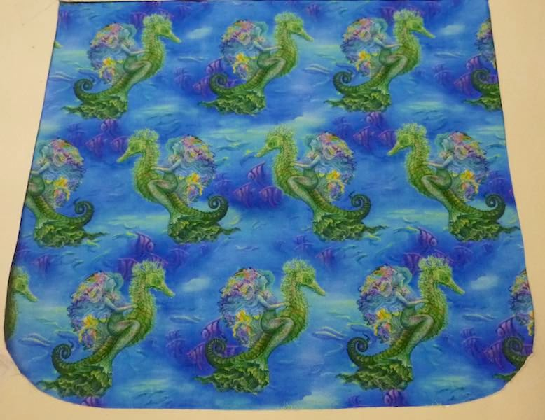 Mermaid Travels Pick your Size Morphin Messenger Bag Flap