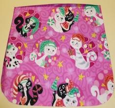 Mod Christmas kitties on pink Pick your Size Morphin Messenger Bag Flap