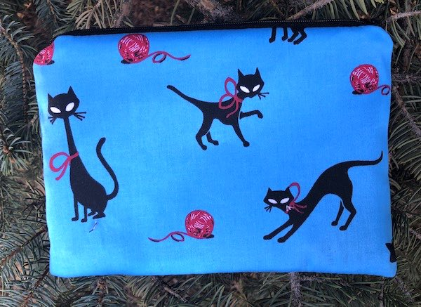 Mod Black Cats zippered bag, The Scooter