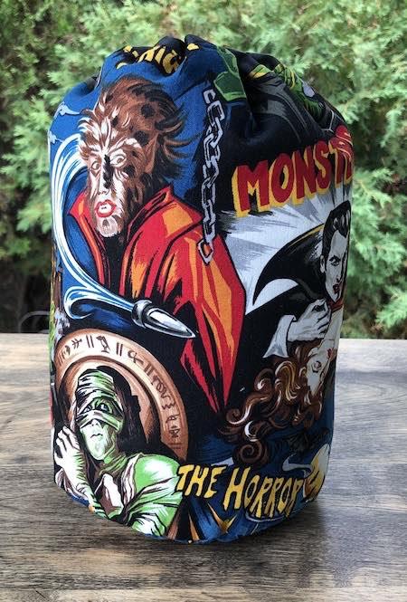 Movie Monsters SueBee Round Drawstring Bag