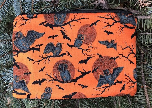 Owls and Moons zippered bag, The Scooter