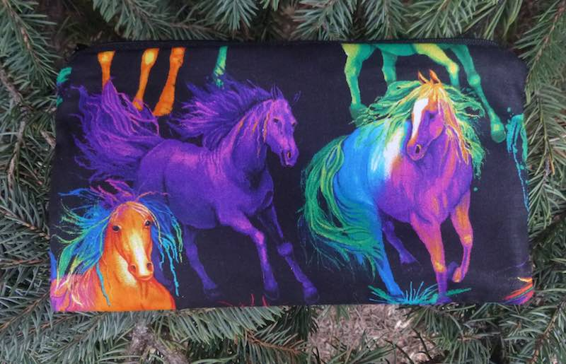 Painted Horses Deep Scribe pen and pencil case
