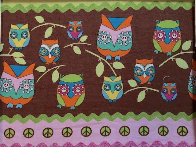 Peace Owls Adjustable Face Mask - MADE TO ORDER