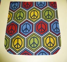 Peace Pick your Size Morphin Messenger Bag Flap