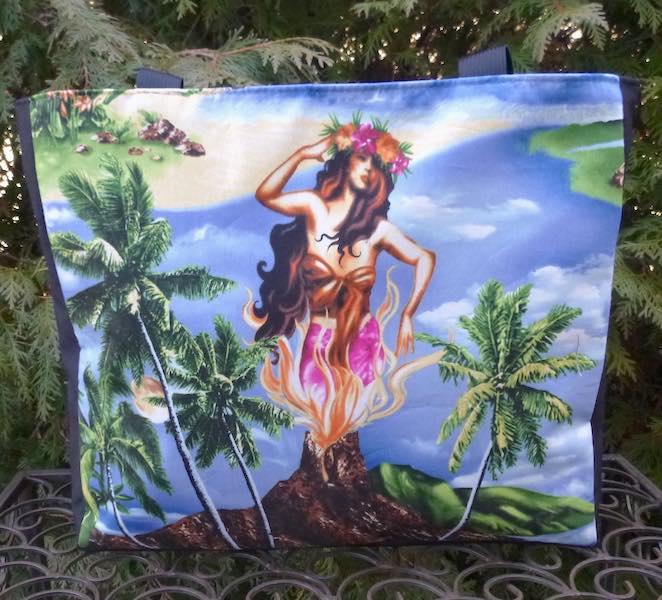 Pele Goddess of Volcanoes, Medium Fleur Tote, wide