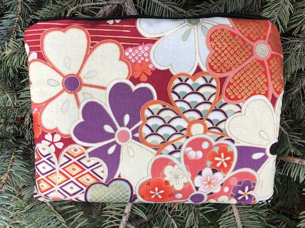 Plum Blossoms zippered bag, The Scooter