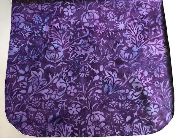Purple Posies Batik Pick your Size Morphin Messenger Bag Flap