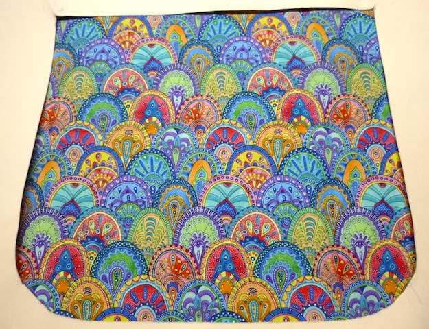 Rainbow Scallops Pick your Size Morphin Messenger Bag Flap