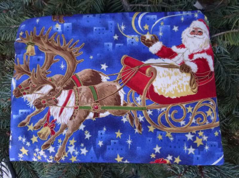 Santa's Reindeer Mahjongg card and coin purse, The Slide