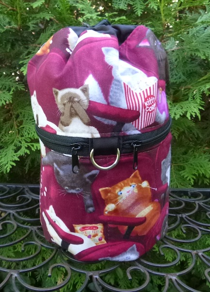 Scaredy Cat Kipster Knitting Project Bag