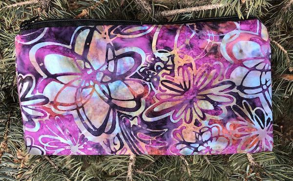 Scribble Flowers Batik Deep Scribe pen and pencil case