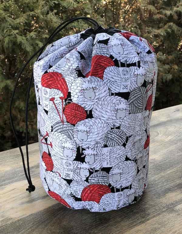 Skeins of Sheep drawstring bag, The Large Suebee