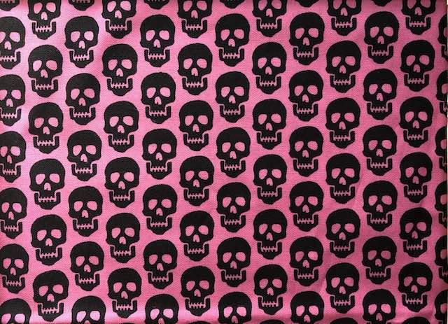 Skulls on pink Adjustable Face Mask - MADE TO ORDER